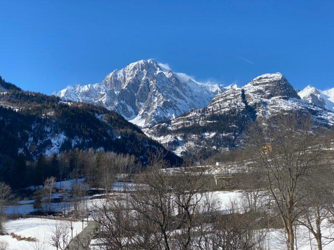 Trilocale vista Monte Bianco